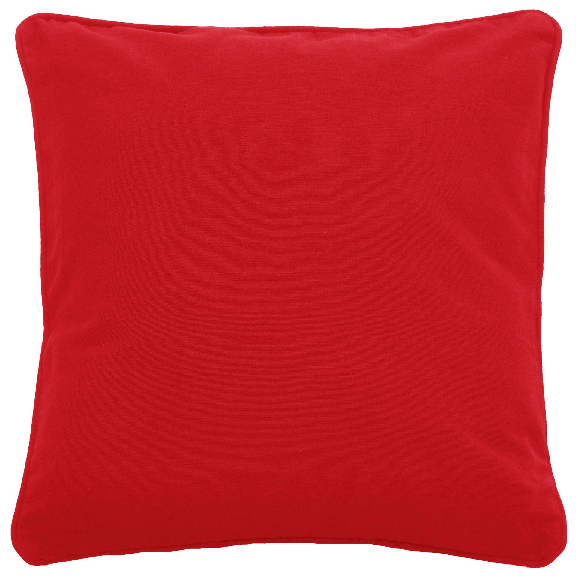 P081 - RED CUSHION COVER R10 each to hire QUANTITY: 19