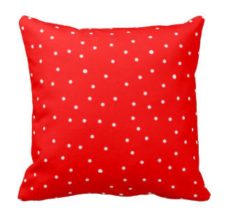 KZN005 &#8211; Red Polka Dot Cushion<br/>(R20 each to hire)