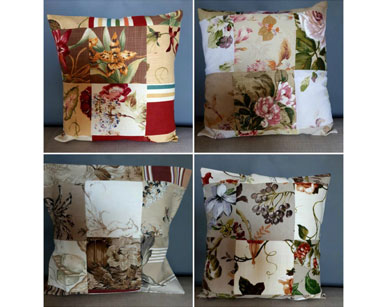 KZN092 &#8211; PATCHWORK CUSHIONS <br/>(R20 each to hire)