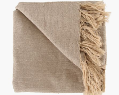 GP003 – TAUPE THROW (R35 each to hire)