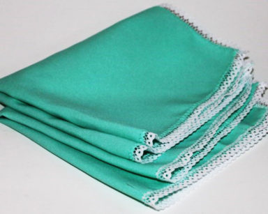 KZN024 &#8211; Teal napkin<br/>(R15 each to hire)
