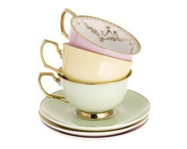 KZN020 – Variety of Vintage Tea Cups <br/>(R25, per cup &#038; saucer)