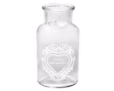 KZN018 &#8211; Love Small Vase <br/>(R12 each to hire)