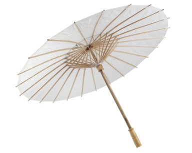KZN014 – WHITE PARASOLS<br/> (R50 each to hire)