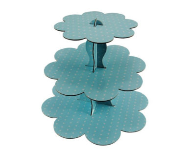 KZN029 &#8211; Blue Polka Dot Cupcake Stand<br/>(R25 to hire)