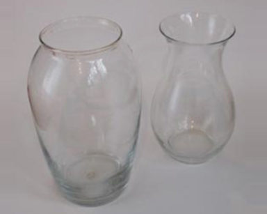 KZN019 &#8211; Clear Vases<br/>(R25 each to hire)
