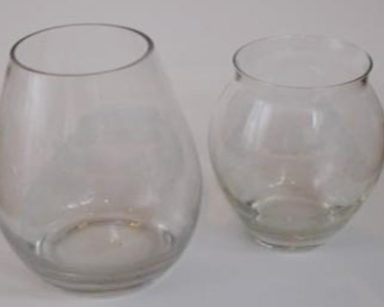 KZN021 &#8211; Clear vases<br/>(R25 each to hire)
