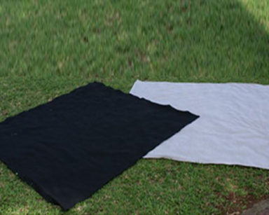 KZN022 &#8211; Grey-and-black-picnic-blankets<br/>(R30 each to hire)