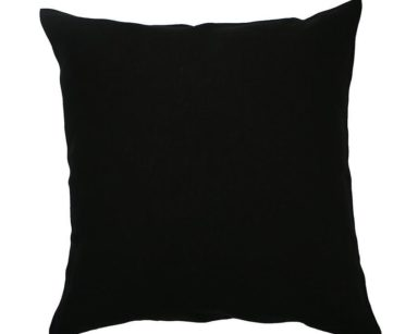 KZN031-PLAIN BLACK CUSHIONS (R20 each to hire)
