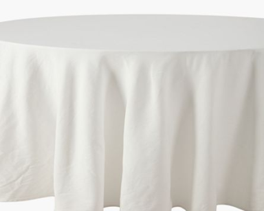 GP009 – ROUND WHITE TABLECLOTH (R35 each to hire)