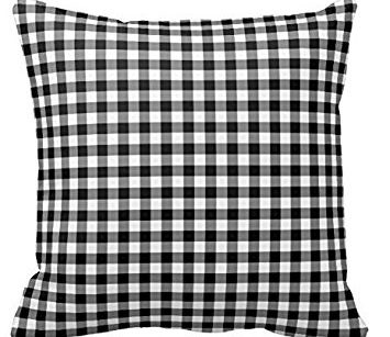 KZN040 – BLACK AND WHITE CHECKERED CUSHIONS (R25 each to hire)