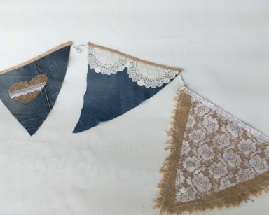 KZN046 – DENIM HESSIAN LACE BUNTING (R35 to hire)