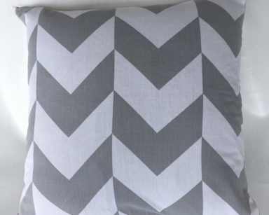 KZN057 – GREY AND WHITE CHEVRON CUSHION (R25 to hire)