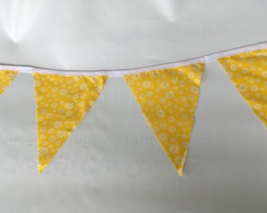 KZN053 – YELLOW FLORAL BUNTING (R35 to hire)