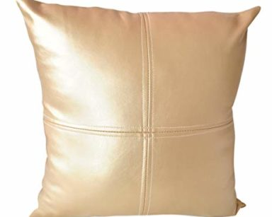KZN042 – GOLD PLEATHER CUSHION (R20 to hire)