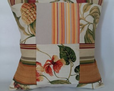 KZN065 – VARIETY OF PATCHWORK CUSHIONS (R20 each to hire)