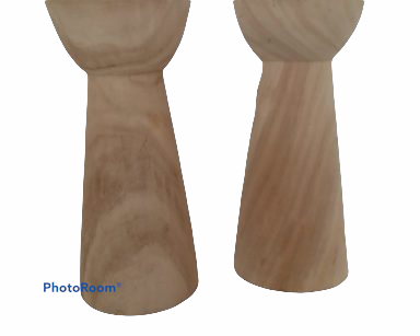 KZN062 – WOODEN CANDLE HOLDERS (R45 each to hire)