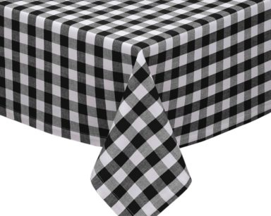 GP023 – BLACK AND WHITE CHECKERED TABLECLOTH (R40 each to hire)