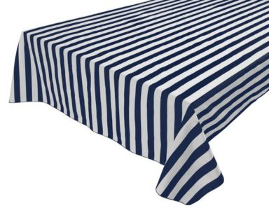 KZN080 – NAVY AND WHITE STRIPE OVERLAY (R35 each to hire)