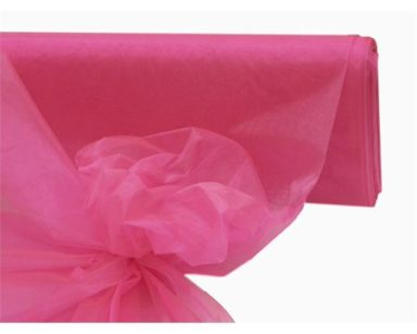 GP028 – PINK ORGANZA OVERLAYS (R40 each to hire)
