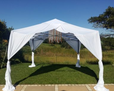 KZN094-GAZEBO DRAPING (R600 including Gazebo)