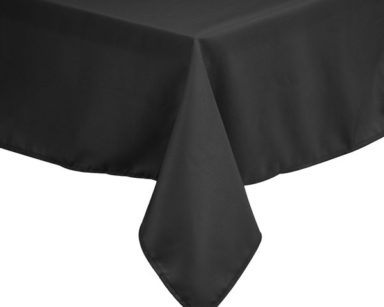 KZN088 – BLACK TABLECLOTH (R35 each to hire)
