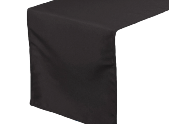 GP037 – BLACK TABLE RUNNER (R30 each to hire)