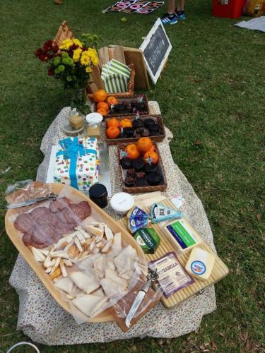 Group picnic food